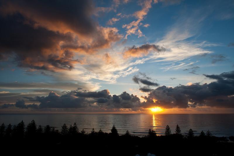 Main Beach sunrise, Queensland.