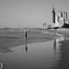 Main Beach, Queensland. Monochrome