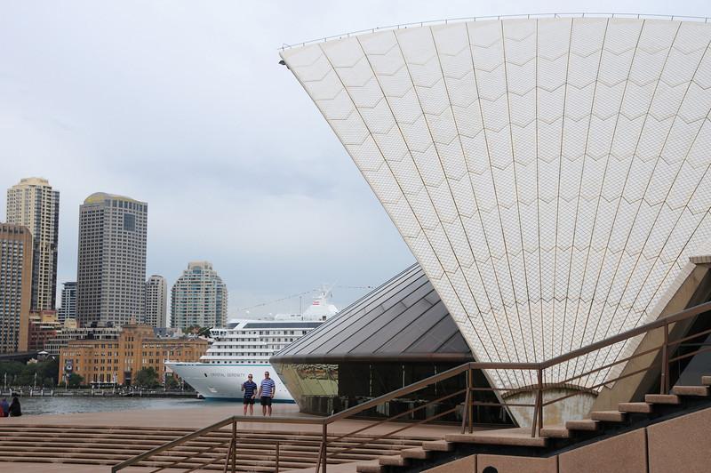 Crystal Serenity. Sydney Opera House. 27th February 2008.