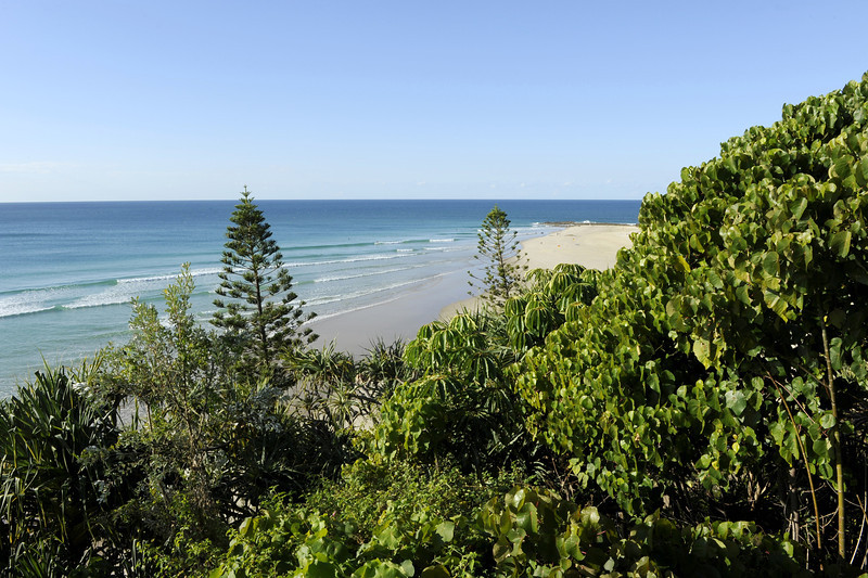 Rainbow Beach, Snapper Rocks, Gold Coast, Queensland.