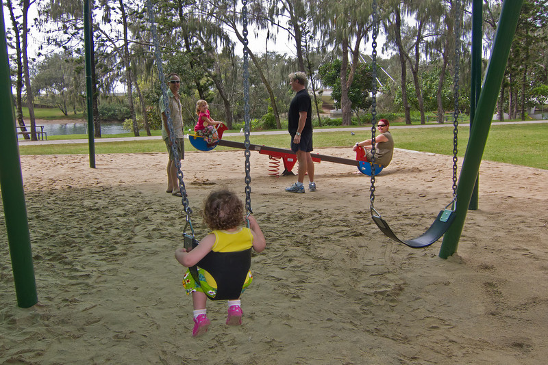Our friends, Macintosh Island Park, Gold Coast, Queensland.
