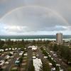 Full rainbow, Main Beach, Queensland.