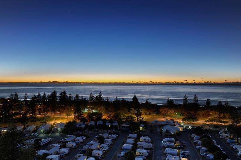 Dawn at Main Beach, Gold Coast, Queensland. HDR image.