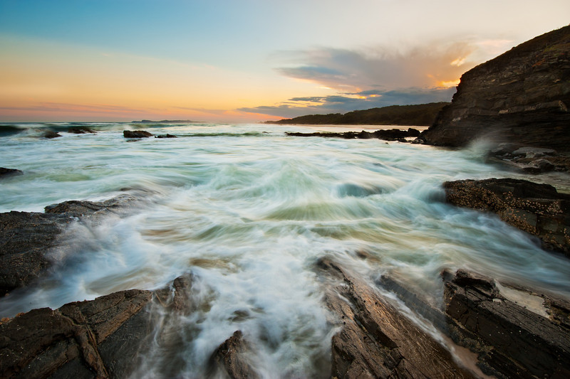 Seven Mile Beach sunset, New South Wales. Composite Image.