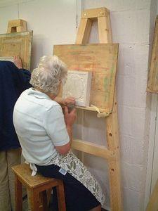 Edna at work