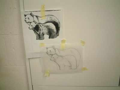 Gill's drawings for stonecarving class
