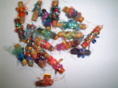 Fuzzy picture of beads made for a City and guilds internet list swap