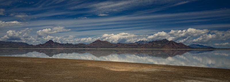 Panorama of Bonneville Lake Utah