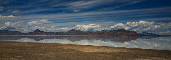Panorama of Bonneville Lake Utah