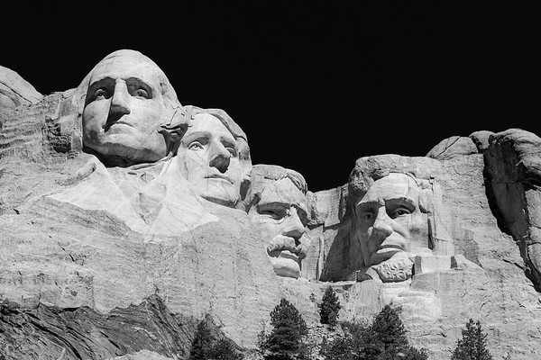 Rushmore in Black & White