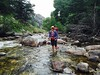 jessi crossing river in boulder canyon