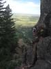 and finally I rappel down Colorado Rockies Eldorado Canyon2015 July