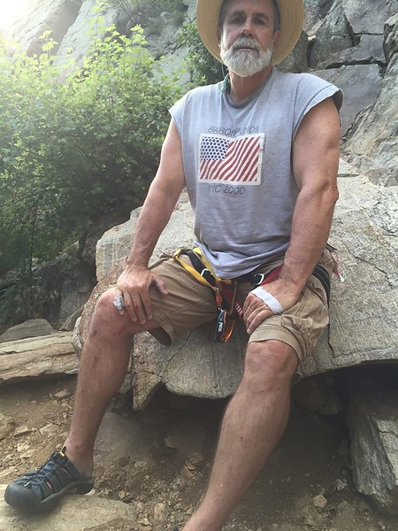 another climbing photo...just off 6 hours multi pitch at el dorado canyon--TIRED!