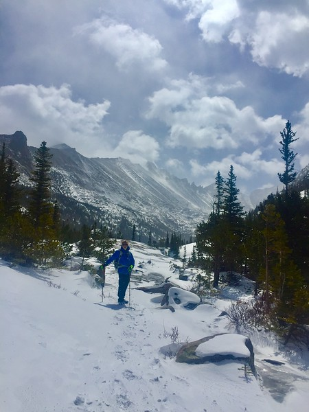 another GREAT wintry hike Mills Lake RMNP 2018