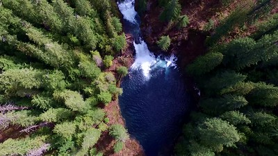 1-Hoverins over Tamolitch Blue Pool