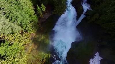 1-Carefully descending to Sahalie Falls