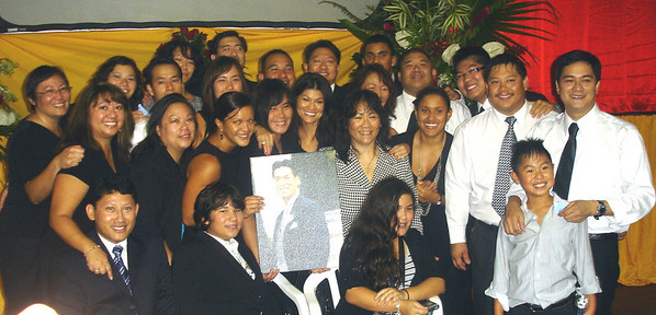 Family gathering at Ray's funeral