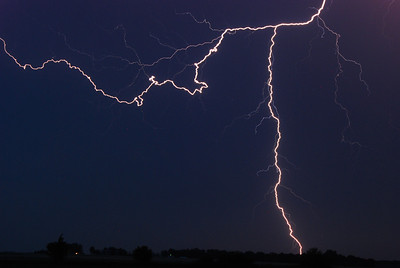 Lightning, typical Nebraska thunderstorm.