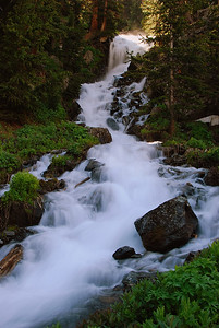 Waterfall along trail to Blue Lakes, near Ouray, Co.