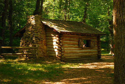 Cabin at Indian Cave State Park, Nebraska.