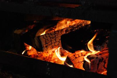 Campfire at Copper Falls, Wisconsin.