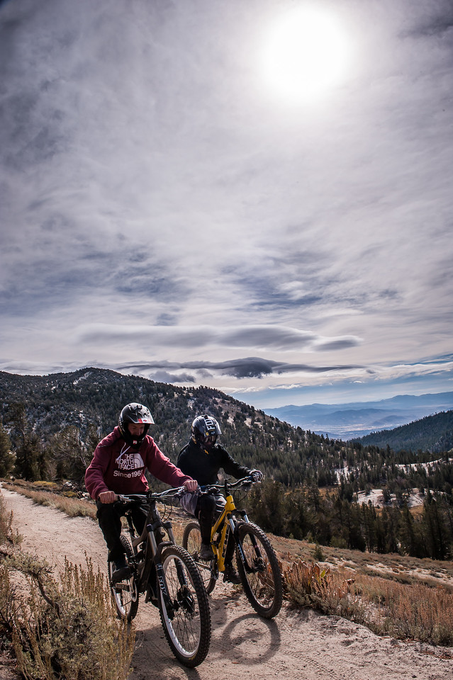 Erick Rodriguez and Israel Bilodeau Mountain Biking the Tahoe Rim Trail, Lake Tahoe, CA
