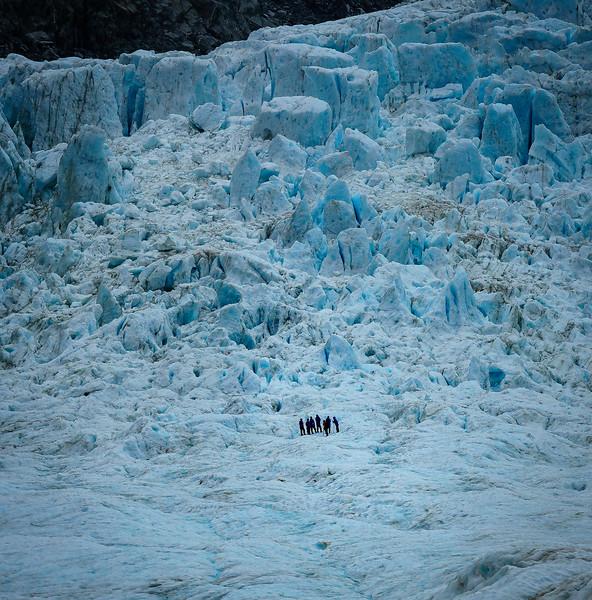 Hikers on the Franz Joseph Glacier
