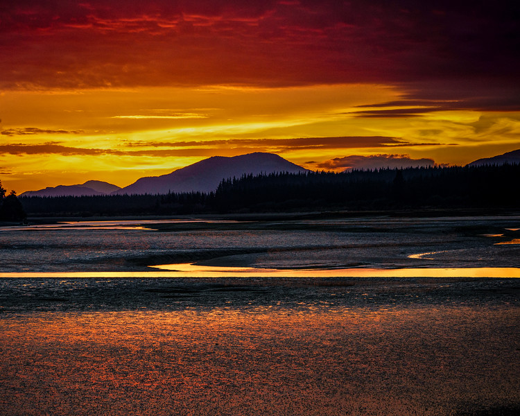 "Sunrise ""Glitter"" at Low Tide"