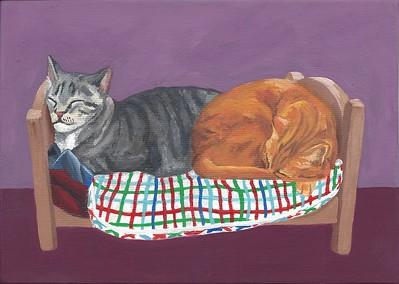 Cats in Bed