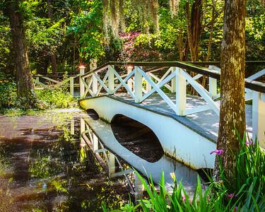 Reflections from the Sunlit Walking Bridge  (Charleston,  South Carolina)