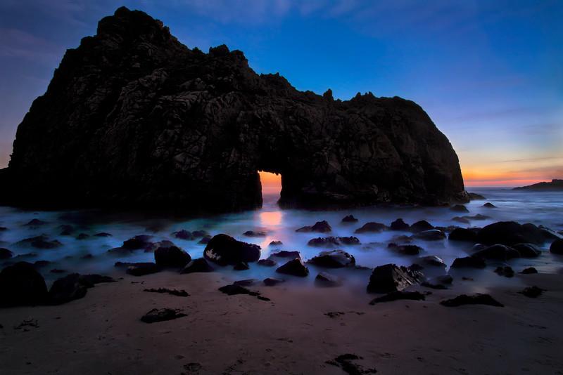Last Light at Keyhole Rock