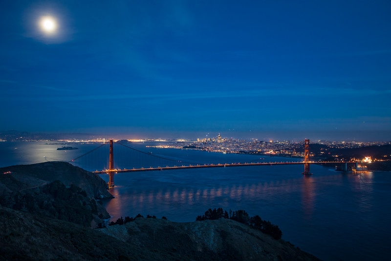 Full Moon Over the San Francisco Bay