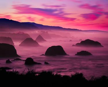 Foggy Sunrise at Cuffey's Cove (Mendocino, California)