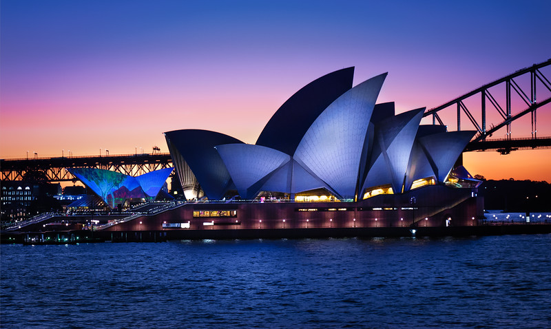 Sunset Behind the Sydney Opera House