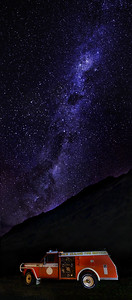 Silverpine Firetruck Beneath the Milky Way