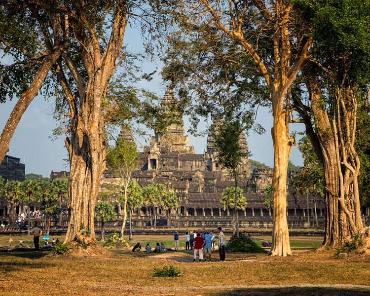 Angkor Wat thru the trees