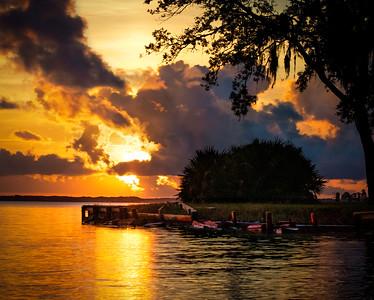 Fiery Sunrise over Choctawhatchee Bay (as seen from Mack Bayou, Destin Florida)