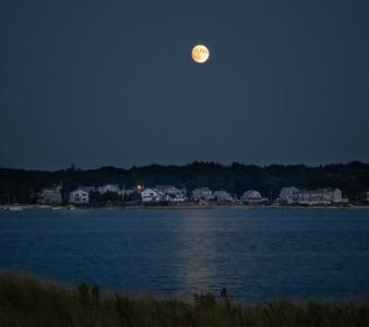 Evening Full Moon over Monument Beach
