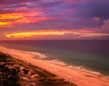 Firey Sunrise at the Emerald Coast - Sandestin, Florida