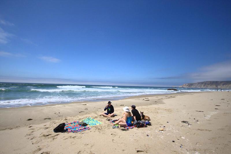 kehoe beach with gab and oli and skytee and nika the dog