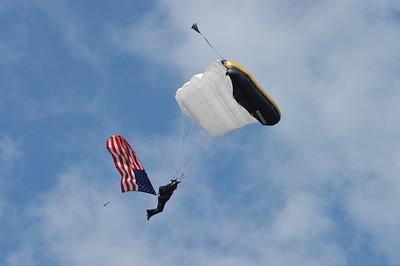 West Point Parachute Team Coach Flag Jump