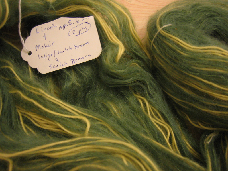 lincoln sheep and mohair two-ply