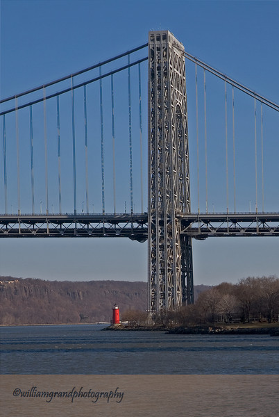 George Washington Bridge and Little Red Lighthouse