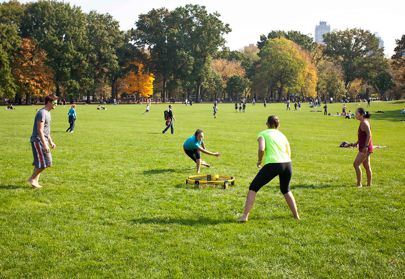 """Spike Ball"" on the Sheep Meadow"