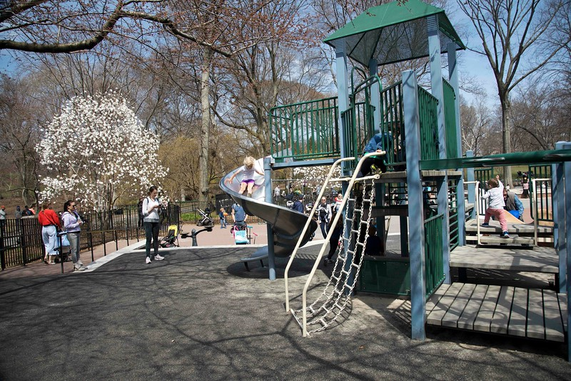 Climbers and Sliders at James Michael Levin Playground, E. 76th St.