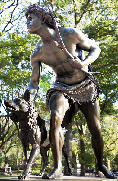 """Indian Hunter,"" Sculpture by John Quincy Adams Ward, 1866"