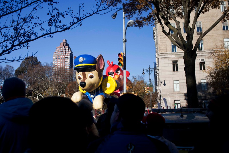 Thanksgiving Parade View from the Park