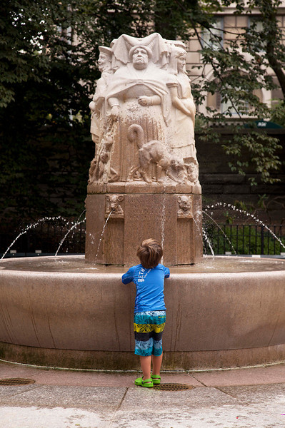 Face Off at the Fountain in the Playground, East Side near 76th Street