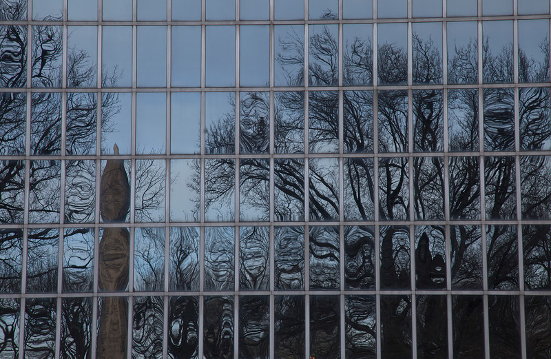 When the Sun Sets, the Ghosts Appear (look at each pane).  Reflection on the Metropolitan Museum of Art.