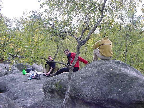 before bouldering